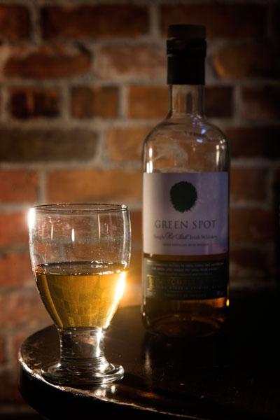 Green-spot whiskey Paddy whiskey  at Costigans Irish Whiskey bar Cork