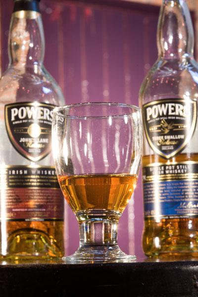 Powers at Costigans Irish Whiskey bar Cork